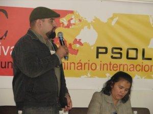 Gilberto Rios representou a Frente Nacional de Resistência ao Golpe no Seminário Internacional realizado em outubro
